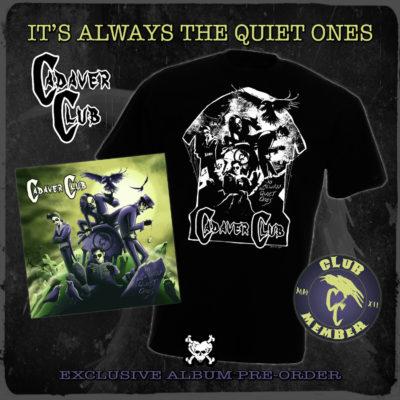 'It's Always The Quiet Ones' Signed CD Album + Badge + T-shirt - £25.00