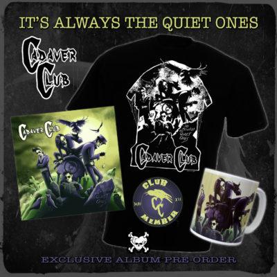 'It's Always The Quiet Ones' Signed CD Album + Badge + T-shirt + Mug - £35.00