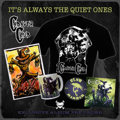 'It's Always The Quiet Ones' Signed CD Album + Badge + T-shirt + Mug + Signed/Numbered Giclée Artwork Print + Original Mr. Crowe (AKA Kevin Mc Hugh Art) Painting (Strictly limited:13 only) - £100.00